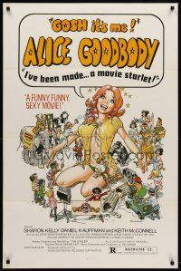 8e020 ALICE GOODBODY 1sh '74 Sharon Kelly, wacky sexy artwork by Steffenhagen, Gosh!