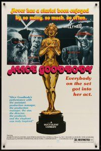 8e021 ALICE GOODBODY 1sh '74 Sharon Kelly, wacky sexy statue artwork!