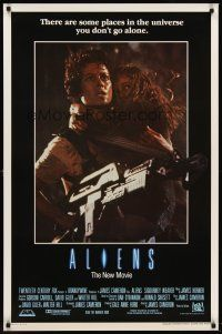 8e025 ALIENS int'l 1sh '86 James Cameron, really cool image of Sigourney Weaver & Carrie Henn!