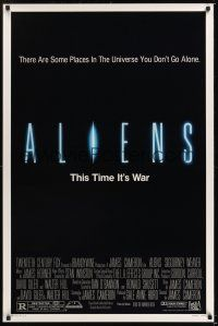 8e024 ALIENS 1sh '86 James Cameron, there are some places in the universe you don't go alone!