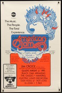8e033 AMERICAN JAM 1sh '70s ABC music concert, cool artwork, Jimmy Buffett!
