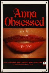 8e036 ANNA OBSESSED 1sh '77 Constance Money, Annette Haven, Jamie Gillis, sexy lips!
