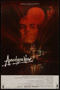 8e037 APOCALYPSE NOW 1sh '79 Francis Ford Coppola, classic Bob Peak art of Marlon Brando!