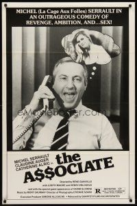 8e041 ASSOCIATE 1sh '82 Rene Gaineville, Michel Serrault, an outrageous comedy!