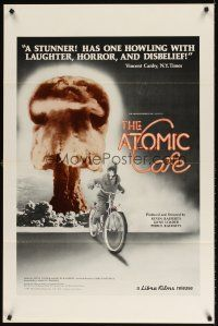 8e042 ATOMIC CAFE 1sh '82 great colorful nuclear bomb explosion image!