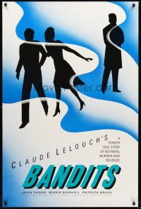 8e043 ATTENTION BANDITS 1sh '86 Claude Lelouch's story of betrayal, murder & revenge!