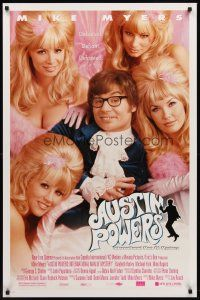 8e044 AUSTIN POWERS: INT'L MAN OF MYSTERY style B DS 1sh '97 Mike Myers & sexy fembots!