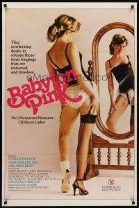 8e050 BABYLON PINK 1sh '82 Samantha Fox, Vanessa Del Rio, Arcadia Blue, sexy unexpected pleasures!