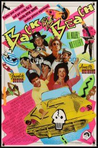 8e052 BACK TO THE BEACH int'l 1sh '87 Avalon & Funicello w/Pee-Wee Herman,rocker Stevie Ray Vaughan!