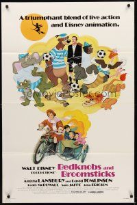 8e067 BEDKNOBS & BROOMSTICKS 1sh R79 Walt Disney, Angela Lansbury, great cartoon art!