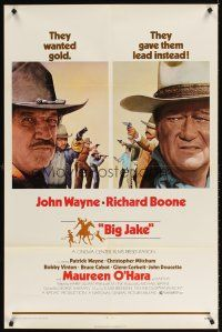 8e075 BIG JAKE 1sh '71 Richard Boone wanted gold but John Wayne gave him lead instead!