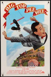 8e076 BIG TOP PEE-WEE 1sh '88 Paul Reubens is a hero, lover & legend, cult classic, great image!