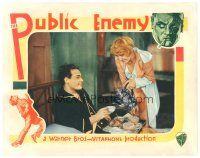 8f738 PUBLIC ENEMY LC '31 sexy Joan Blondell pours coffee for Edward Woods in bed!
