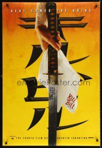 8h395 KILL BILL: VOL. 1 foil teaser DS 1sh '03 Quentin Tarantino, Uma Thurman's katana!