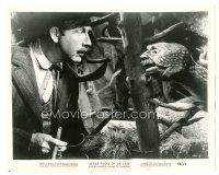 8j015 7 FACES OF DR. LAO 8x10 still '64 Arthur O'Connell & Tony Randall in makeup as reptile!