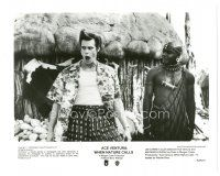 8j017 ACE VENTURA WHEN NATURE CALLS 8x10 still '95 wacky Jim Carrey as the White Devil with Uda!
