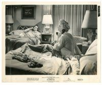 8j024 ALL ABOUT EVE 8x10 still '50 Hugh Marlowe & Celeste Holm talking on phone in bed!