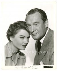 8j022 ALL ABOUT EVE 8x10 still '50 close up of George Sanders & Anne Baxter!