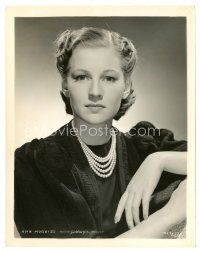 8j037 ANN MORRISS 8x10 still '30s cool portrait of the pretty actress in pearls!