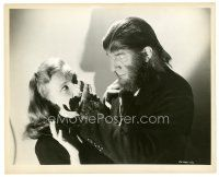 8j041 APE MAN 8x10 still '43 wonderful close up of monster Bela Lugosi with Louise Currie!