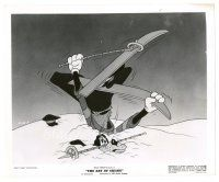 8j045 ART OF SKIING 8x10 still '41 Walt Disney, wacky image of Goofy doing everything wrong!