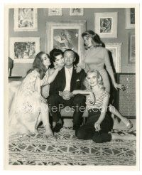 8j046 ASK ANY GIRL 8x10 still '59 David Niven surrounded by four super-sexy women!
