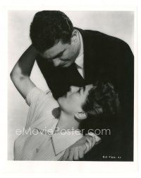 8j049 AUTUMN LEAVES 8x10 still '56 romantic close up of Cliff Robertson & Joan Crawford by Coburn!