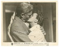 8j055 BAD SEED 8x10 still '56 romantic close up of William Hopper passionately kissing Nancy Kelly!