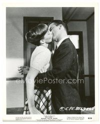 8j069 BECAUSE THEY'RE YOUNG 8x10 still '60 close up of Dick Clark kissing pretty Victoria Shaw!
