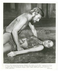 8j074 BENEATH THE PLANET OF THE APES 8x10 still '70 close up of James Franciscus & Linda Harrison!