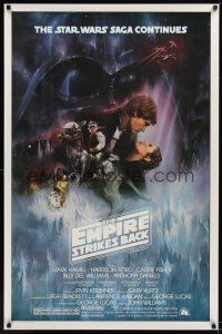 8z255 EMPIRE STRIKES BACK 1sh '80 Lucas, classic Gone With The Wind style art by Roger Kastel!