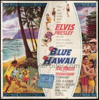 9f002 BLUE HAWAII 6sh '61 great image of Elvis Presley & sexy babes by the beach!