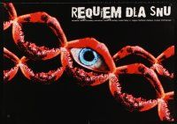 9j657 REQUIEM FOR A DREAM Polish 27x38 '01 addicts Leto & Jennifer Connelly, cool eye & lips art!