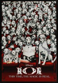 9k013 101 DALMATIANS int'l teaser 1sh '96 Walt Disney live action, dogs in theater!