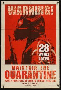 9k021 28 WEEKS LATER teaser DS 1sh '07 Catherine McCormack, Robert Carlyle, zombies!