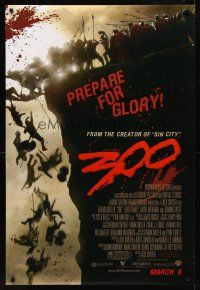9k023 300 advance DS 1sh '07Zack Snyder directed, Gerard Butler, prepare for glory!
