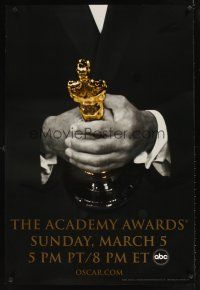 9k009 78th ANNUAL ACADEMY AWARDS TV DS 1sh '06 cool Studio 318 design of man in suit holding Oscar!