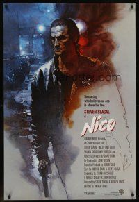 9k027 ABOVE THE LAW int'l 1sh '88 great David Grove artwork of Steven Seagal as Nico!