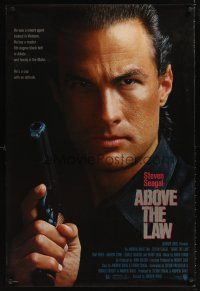 9k026 ABOVE THE LAW 1sh '88 best image of tough guy Steven Seagal!