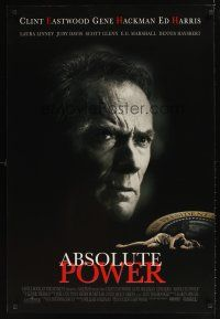 9k029 ABSOLUTE POWER DS 1sh '97 star & director Clint Eastwood, written by William Goldman!