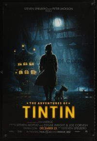 9k037 ADVENTURES OF TINTIN teaser DS 1sh '11 Steven Spielberg's version of the French cartoon!