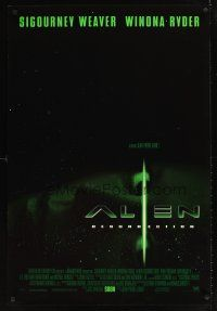 9k045 ALIEN RESURRECTION style C int'l advance DS 1sh '97 Sigourney Weaver, Winona Ryder, Perlman!