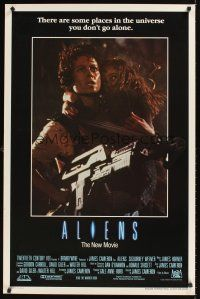 9k048 ALIENS int'l 1sh '86 James Cameron, cool image of Sigourney Weaver & Carrie Henn!