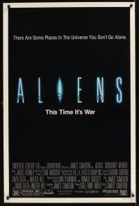 9k047 ALIENS 1sh '86 James Cameron, Signourney Weaver, this time it's war!