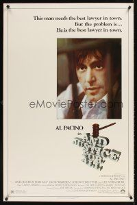 9k056 AND JUSTICE FOR ALL 1sh '79 directed by Norman Jewison, Al Pacino is out of order!
