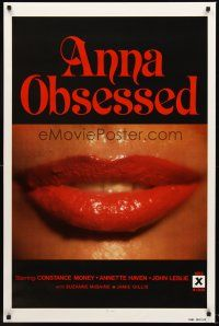 9k059 ANNA OBSESSED 1sh '77 Constance Money, Annette Haven, Jamie Gillis, sexy lips!