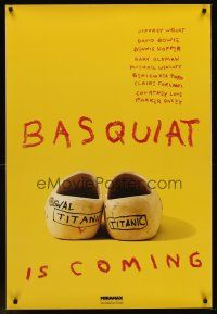 9k077 BASQUIAT teaser 1sh '96 Jeffrey Wright as Jean Michel Basquiat, directed by Julian Schnabel!