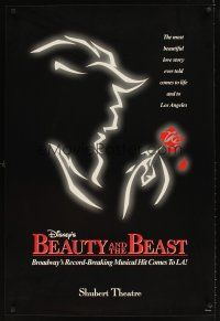 9k084 BEAUTY & THE BEAST stage play 1sh '94 Robert Jess Roth Broadway musical, Shubert Theatre!