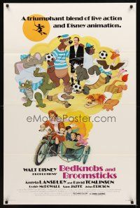 9k085 BEDKNOBS & BROOMSTICKS 1sh R79 Walt Disney, Angela Lansbury, great cartoon art!