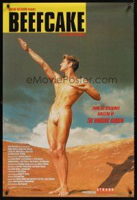 9k086 BEEFCAKE 1sh '99 biography of Bob Mizer, founder of the Athletic Model Guild!